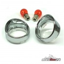 1Pair Turn Signal Lens in Clear Lens with Visior Bezel |...